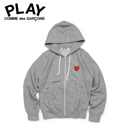 COMME des GARCONS PLAY RED HEART PATCH ZIP HOODED SWEATSHIRT コムデギャルソン パーカー スウェット レディース ジップアップ グレー P1T167 AZ-T167
