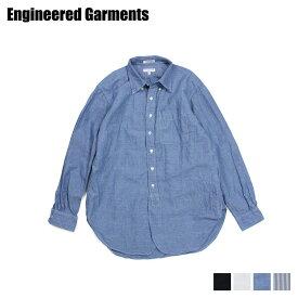 ENGINEERED GARMENTS 19 CENTURY BUTTON DOWN SHIRT エンジニアドガーメンツ シャツ 長袖 オックスフォードシャツ メンズ ブラック ホワイト ブルー ネイビー 黒 白 19SA001