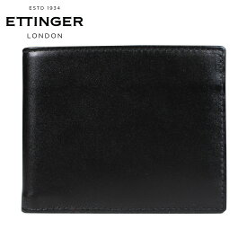 ETTINGER BILLFOLD WALLET WITH CARD CASE エッティンガー 財布 二つ折り メンズ レザー ブラック 黒 ST030CJR
