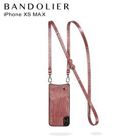 BANDOLIER iPhone XS MAX EMMA ROSE WAVE バンドリヤー ケース スマホ アイフォン レザー メンズ レディース ワインレッド 10EMM