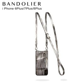 BANDOLIER iPhone8 iPhone7 7Plus 6s SILVER WAVEA バンドリヤー ケース スマホ アイフォン レザー メンズ レディース シルバー 10EMM