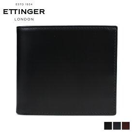 ETTINGER BILLFOLD WITH 6CC COIN PURSE エッティンガー 財布 二つ折り メンズ レザー ブラック ネイビー ブラウン 黒 BH142JR [6/5 新入荷]