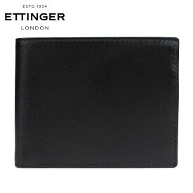 ETTINGER STERLING BILLFOLD WITH 3 C/C & PURSE エッティンガー 財布 二つ折り メンズ 本革 ブラック 黒 ST141JR