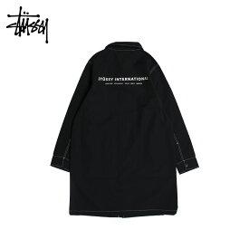 STUSSY NYLON SHOP COAT ステューシー コート ショップコート メンズ ブラック 黒 115408