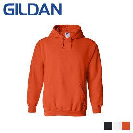 GILDAN HEAVY BLEND 8.0 OZ HOODED SWEATSHIRT ギルダン パーカー プルオーバー スウェット メンズ ブラック ホワイト オレンジ 黒 白 18500
