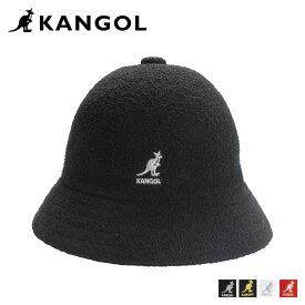 KANGOL BERMUDA CASUAL カンゴール ハット キャップ 帽子 バケットハット メンズ レディース ブラック ホワイト レッド 黒 白 195169015
