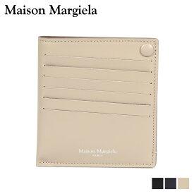 MAISON MARGIELA CARD CASE メゾンマルジェラ カードケース 名刺入れ 定期入れ メンズ レディース レザー ブラック ダーク ネイビー ベージュ 黒 S55UI0201 P2714 [10/9 新入荷]