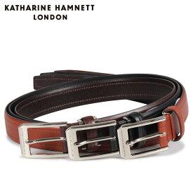 KATHARINE HAMNETT LONDON LEATHER BELT キャサリンハムネット ロンドン ベルト レザーベルト メンズ 本革 ブラック ブラウン ダーク ブラウン 黒 KH505032 [10/15 新入荷]