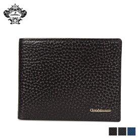 【最大1000円OFFクーポン】 Orobianco BI-FOLD WALLET オロビアンコ 財布 二つ折り メンズ 本革 ブラック ネイビー ブルー 黒 ORS-022008
