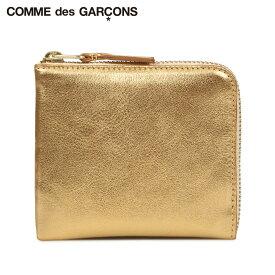 COMME des GARCONS GOLD AND SILVER WALLET コムデギャルソン 財布 ミニ財布 メンズ レディース L字ファスナー 本革 ゴールド SA3100G
