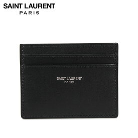 【最大1000円OFFクーポン】 SAINT LAURENT PARIS YSL CREDIT CARD CASE サンローラン パリ パスケース カードケース ID 定期入れ メンズ 本革 ブラック 黒 3759460U90N