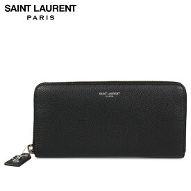 SAINT LAURENT PARIS YSL WOMEN WALLET サンローラン パリ 財布 長財布 本革 ラウンドファスナー レディース ブラック 黒 414680 [10/7 新入荷]