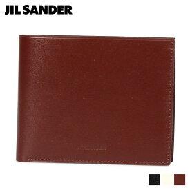 JIL SANDER ZIP POCKET WALLET ジルサンダー 財布 二つ折り財布 メンズ ブラック ホワイト ブラウン 黒 白 MPS00015N