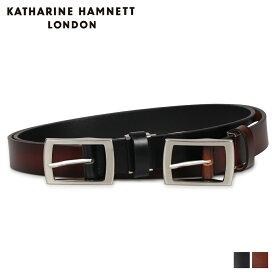KATHARINE HAMNETT LONDON LEATHER BELT キャサリンハムネット ロンドン ベルト レザーベルト メンズ 本革 ブラック ダーク ブラウン 黒 KH-506025 [10/23 新入荷]
