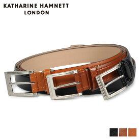 KATHARINE HAMNETT LONDON LEATHER BELT キャサリンハムネット ロンドン ベルト レザーベルト メンズ 本革 ブラック ブラウン ダーク ブラウン 黒 KH-506038 [10/23 新入荷]