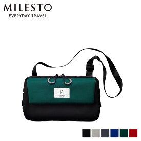 MILESTO TROT MULTI SHOULDER BAG ミレスト バッグ ショルダーバッグ メンズ レディース ブラック ライト グレー ネイビー ブルー グリーン オレンジ 黒 MLS255