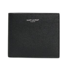 SAINT LAURENT PARIS EAST WEST WALLET サンローラン パリ 財布 二つ折り メンズ ブラック 黒 396307BTY0N [12/5 新入荷]