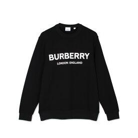 BURBERRY LOGO PRINT COTTON SWEATSHIRT バーバリー スウェット トレーナー メンズ ブラック 黒 8011357