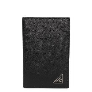 PRADA SAFFIANO TRIANGOLO プラダ パスケース カードケース ID 定期入れ サフィアーノ メンズ ブラック 黒 2MC101-QHH