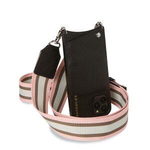 【最大1000円OFFクーポン】 BANDOLIER KIMBERLY PINK WHITE バンドリヤー iPhone SE SE2 8 7 6s 6 ケース スマホ 携帯 ショルダー キンバリー メンズ レディース レザー ブラック 黒 10KIM
