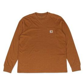 【最大600円クーポン】 carhartt WIP LS POCKET T-SHIRT カーハート Tシャツ メンズ 長袖 ロンT 無地 ブラック ホワイト ダーク グレー ダーク ネイビー ブラウン 黒 白 I022094