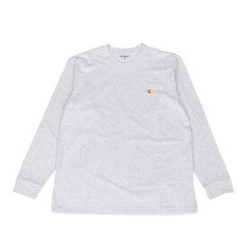 【最大600円クーポン】 carhartt WIP LS CHASE T-SHIRT カーハート Tシャツ メンズ 長袖 ロンT 無地 ブラック ホワイト ライト グレー ダークグレー 黒 白 I026392