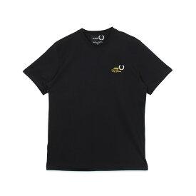 【最大1000円OFFクーポン】 FRED PERRY RAF SIMONS T-SHIRT フレッドペリー ラフシモンズ Tシャツ 半袖 メンズ コラボ ブラック ネイビー 黒 SM8130