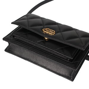 BALENCIAGASHARPBELTBAG Balenciaga Bag Body Bag Shoulder Bag Ladies Black Black 610566 [5/8 new arrival]