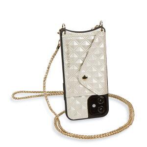 BANDOLIER SHEILA CREAM バンドリヤー iPhone12 mini ケース スマホ 携帯 ショルダー アイフォン シーラ クリーム メンズ レディース オフホワイト 10SHCREG
