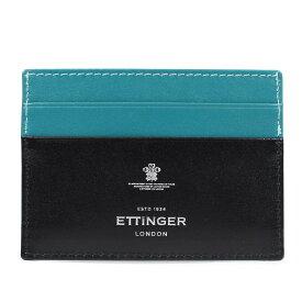 ETTINGER STERLING FLAT CREDIT CARD CASE エッティンガー 名刺入れ カードケース メンズ ブラック ST248JR [10/29 再入荷]