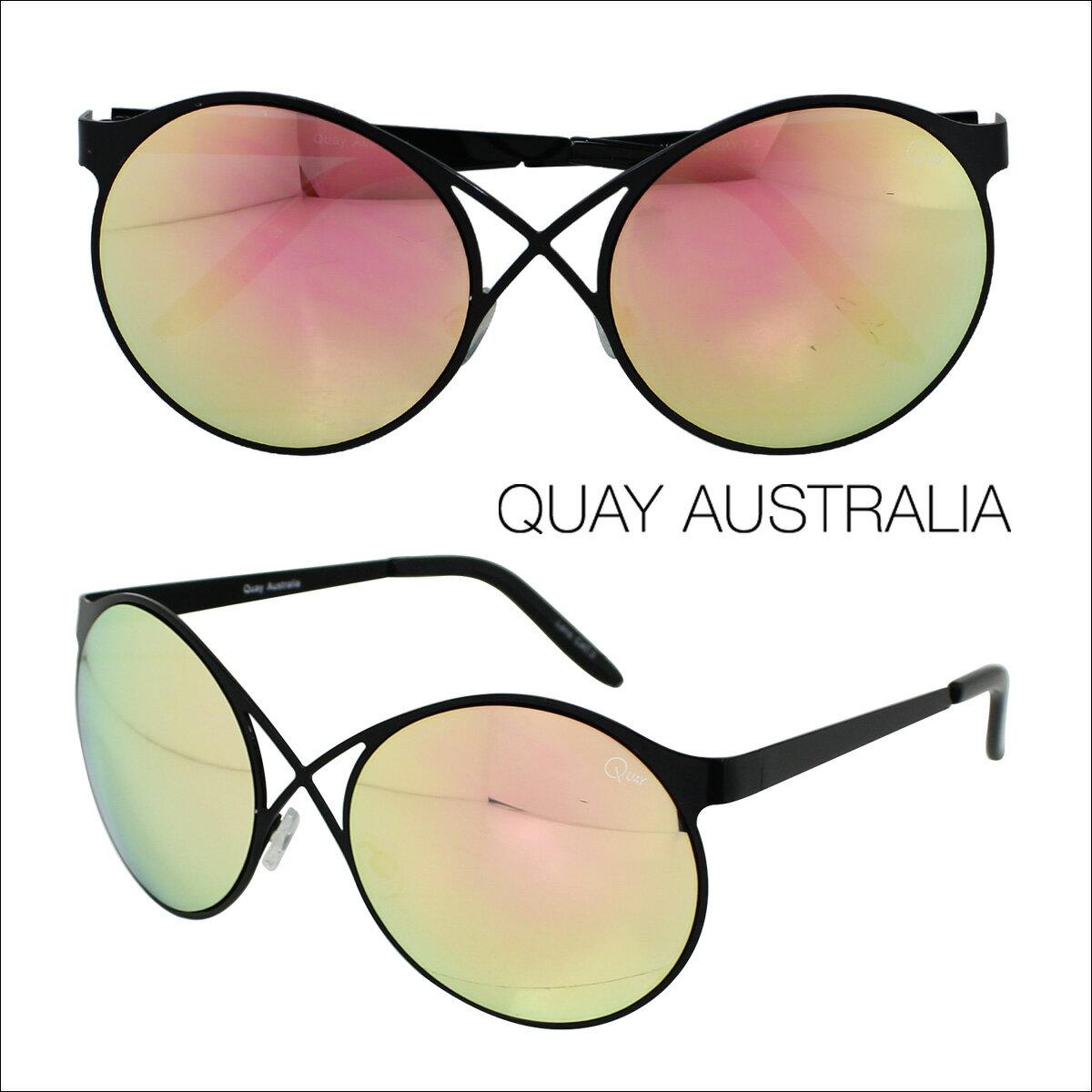 【訳あり】 QUAY EYEWARE AUSTRALIA サングラス キーアイウェア オーストラリア レディース ブラック ローズ 【返品不可】