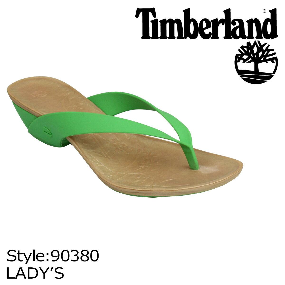 【訳あり】 Timberland ティンバーランド レディース サンダル WOMEN'S FLIRTATIOUS THONG トングサンダル 90380 グリーン