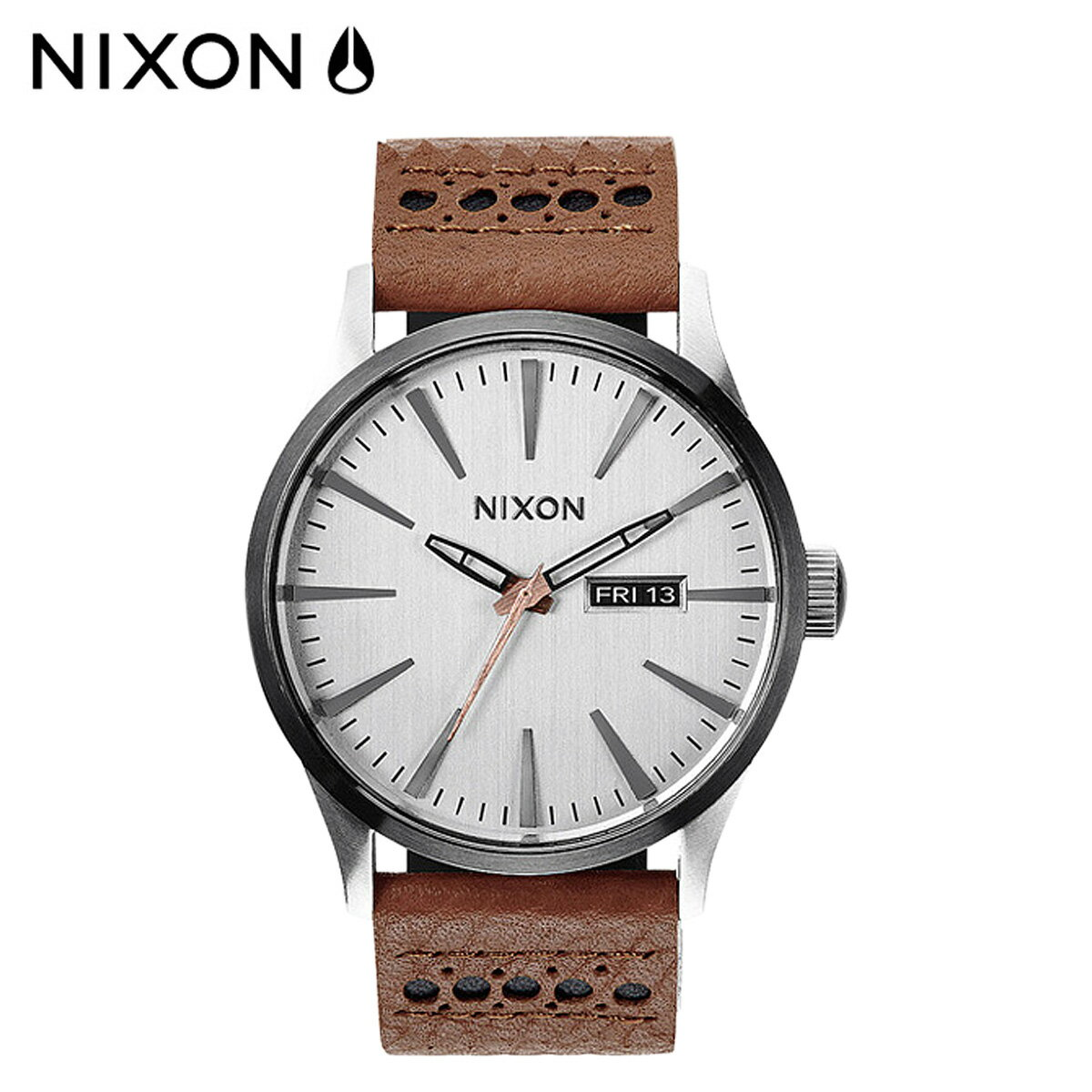NIXON ニクソン 腕時計 時計 42mm A105 SENTRY LEATHER メンズ