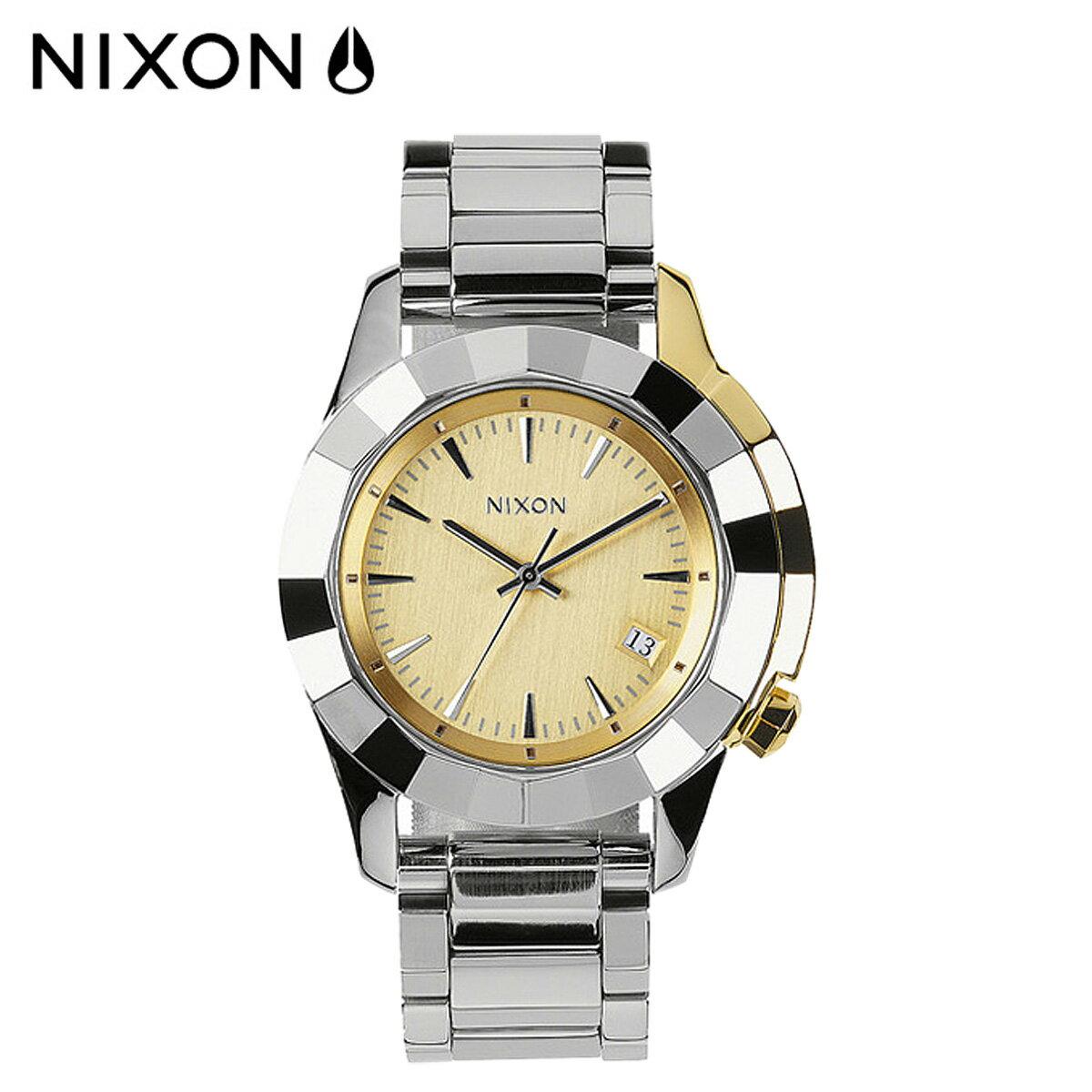 NIXON ニクソン 腕時計 38mm ウォッチ 時計 A288 シルバー ライトゴールド MONARCH メンズ レディース
