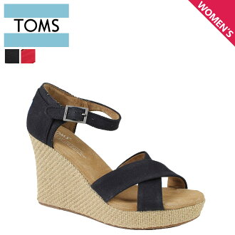 TOMS SHOES汤姆鞋凉鞋CANVAS WOMEN'S STRAPPY WEDGES汤姆汤姆鞋