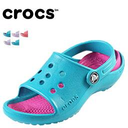 crocs鐘表小孩涼鞋全5種海外正規的物品交叉燈戶外運動女用淺口無扣無帶皮鞋黑尾鹿兒童