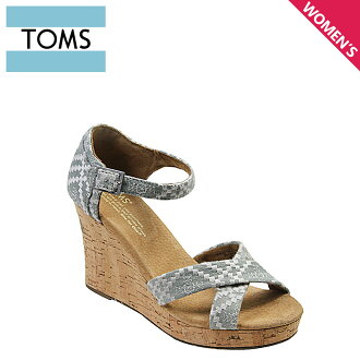 TOMS SHOES汤姆鞋凉鞋EMBROIDERED WOMEN'S STRAPPY WEDGES汤姆汤姆鞋