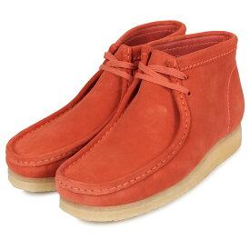 Clarks WALLABEE クラークス ワラビー ブーツ メンズ レディース スエード オレンジ 26144253