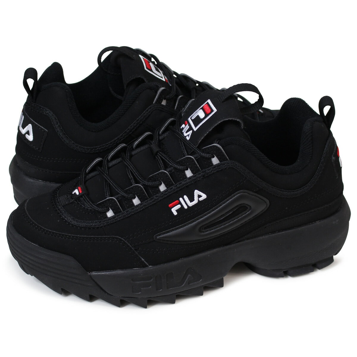 FILA DISRUPTOR 2 フィラディスラプター 2 sneakers Lady\u0027s men black FS1HTA1078X [load  planned Shinnyu load in reservation product 5/11 containing]