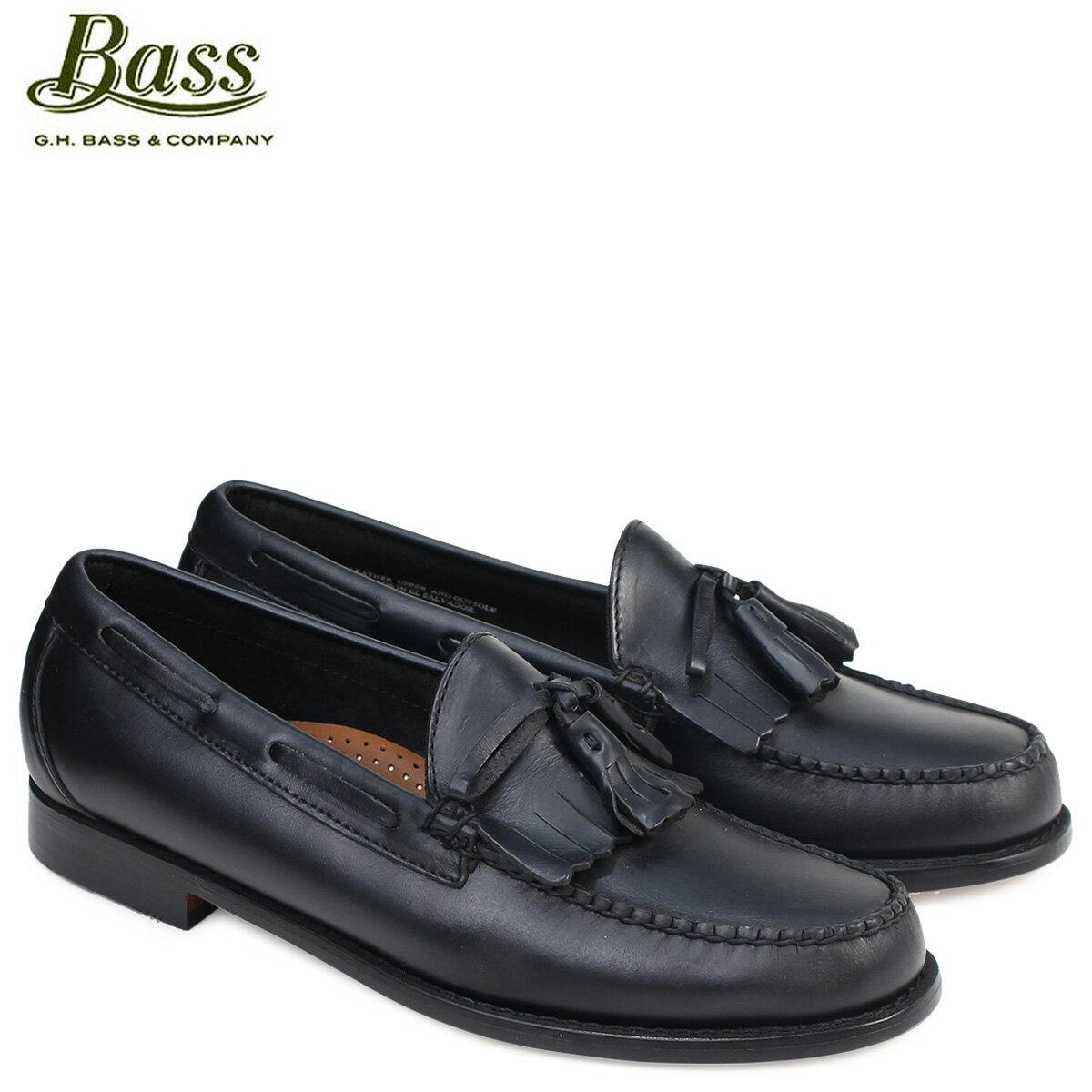 G.H. BASS LAWRENCE KILTIE WEEJUNS 70-80914 ジーエイチバス ローファー メンズ ペニー タッセル 靴 ブラック