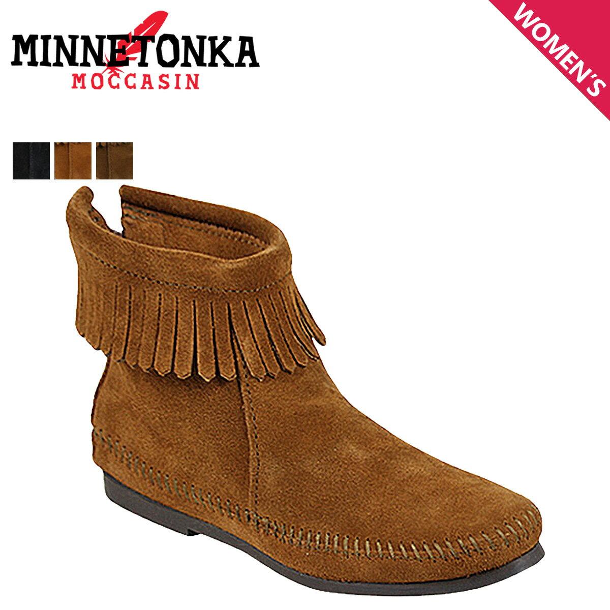 MINNETONKA ミネトンカ ブーツ バック ジッパー ブーツ ハードソール BACK ZIPPER BOOTS HARDSOLE レディース