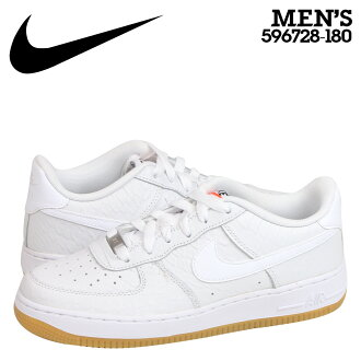 NIKE耐吉空軍運動鞋女士AIR FORCE 1 LOW GS空軍1低596728-180鞋白
