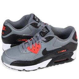 NIKE AIR MAX 90 LEATHER GS耐吉空氣最大90女子的運動鞋833412-010灰色[預訂商品2/14左右打算進貨新入貨物]