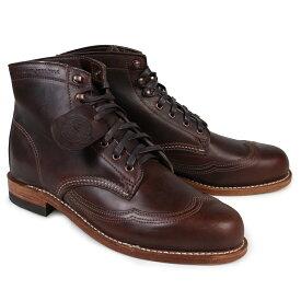 WOLVERINE ウルヴァリン 1000マイル ブーツ ADDISON 1000MILE WINGTIP BOOT Dワイズ W05342 ブラウン ウィングチップ ワークブーツ メンズ
