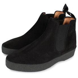 SANDERS ADAM CHELSEA BOOT サンダース チェルシー サイドゴアブーツ メンズ ビジネス Fワイズ ブラック 黒 1701BS