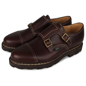 PARABOOT WILLIAM パラブーツ ウィリアム 靴 シューズ ダブルモンクシューズ メンズ レディース ブラウン 981413
