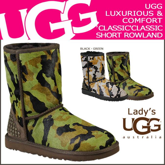 アグ UGG クラシック ショート ムートンブーツ WOMENS CLASSIC SHORT ROWLAND 1003389 シープスキン レディース