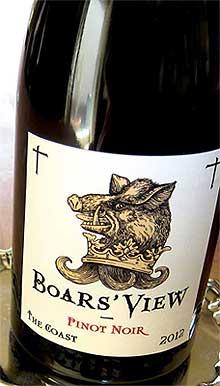 ●ボアズ ヴュー ピノノワール ザ コースト[2012] シュレーダー Boar's View Pinot Noir The Coast [2012]