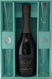● 【送料無料】【箱あり】1688 ベイビー セレモ 【グラン ブラン& グラス4脚セット】(750ml)泡 ノンアルコール スパークリングワイン