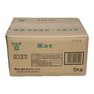 (送料無料)米みそ 5Kg(業務用/こめ味噌/フンドーキン醤油/業務用食材)